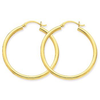35mm Hoop Earrings in 14K Yellow Gold