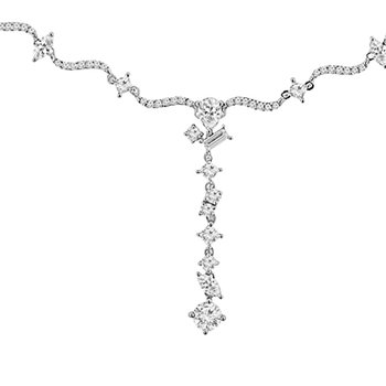 3 1/2ct tw Dimaond Fashion Necklace in 18K White Gold