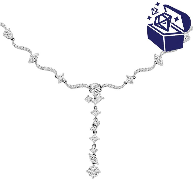 Treasure Hunt Value 3 1/2ct tw Dimaond Fashion Necklace in 18K White Gold