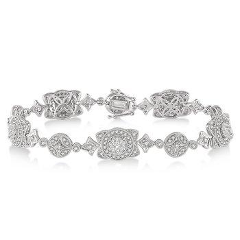 2 1/3ct tw Diamond Thousand Points of Light Bracelet in 14K White Gold