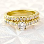 3/4ct tw Diamond Engagment Ring in 10K Yellow Gold