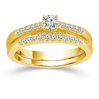 3/4ct tw Diamond Engagment Ring in 10K Yellow Gold
