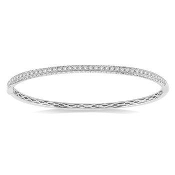 1ct tw Diamond Bangle Bracelet in 14K White Gold