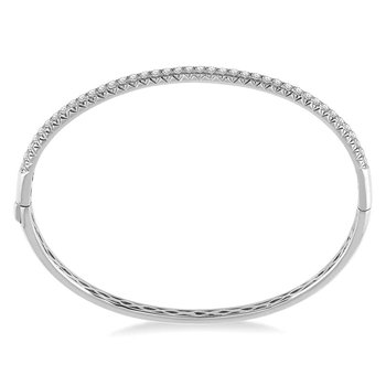 1ct tw Diamond Bangle Bracelet in 14K White Gold