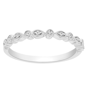 1/14ct tw Diamond Stackable Ring in 10K White Gold