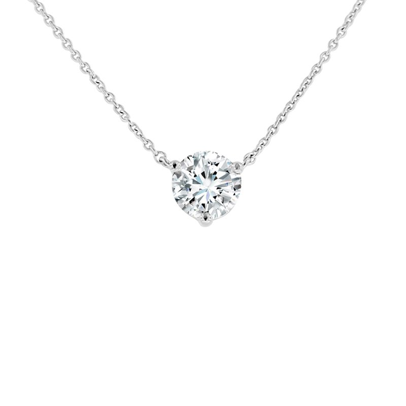 1/2ct tw NewBorn Lab Created Diamond Solitaire Necklace in 14K White Gold
