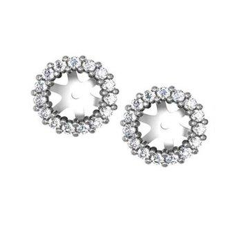 1/3ct tw NewBorn Lab Created Diamond Earring Jackets in 14K White Gold