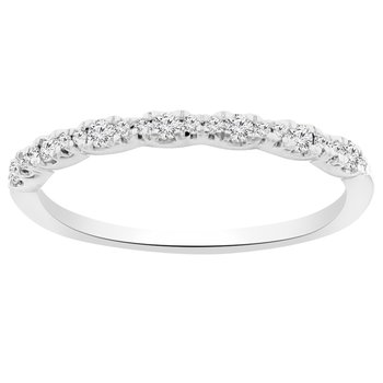 1/5ct tw Diamond Stackable Ring in 14K White Gold