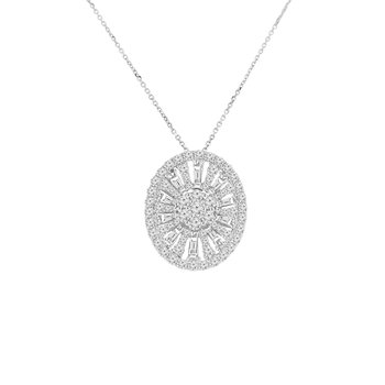 2ct tw Diamond Thousand Points of Light Necklace in 14K White Gold