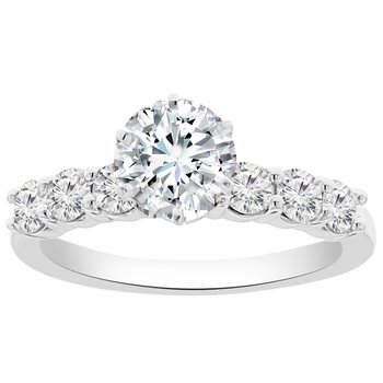 5/8ct tw NewBorn Lab Created Diamond Engagement Ring Setting in 14K White Gold