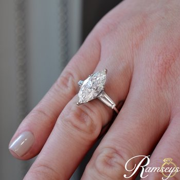5.87ct tw Diamond Engagement Ring in Platinum