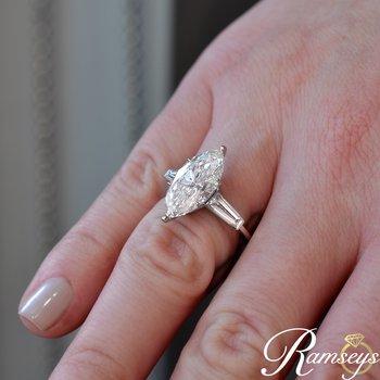 5.87ct tw Diamond Engagement Ring in Platinum