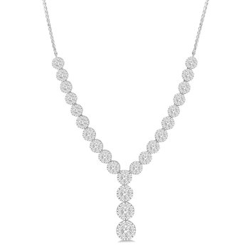 2 1/4ct tw Diamond Thousand Points of Light Necklace in 14K White Gold