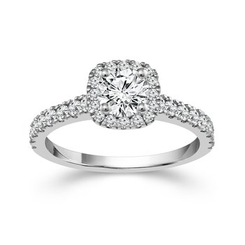 1/2ct tw Ramsey's 81 Diamond Engagement Ring in 14K White Gold