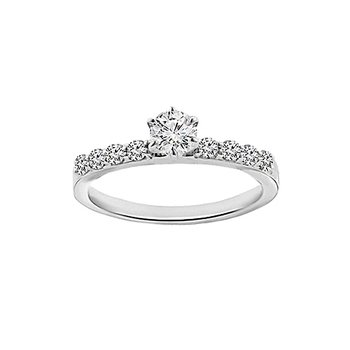 7/8ct tw Diamond Stars Above Engagement Ring in 14K White Gold
