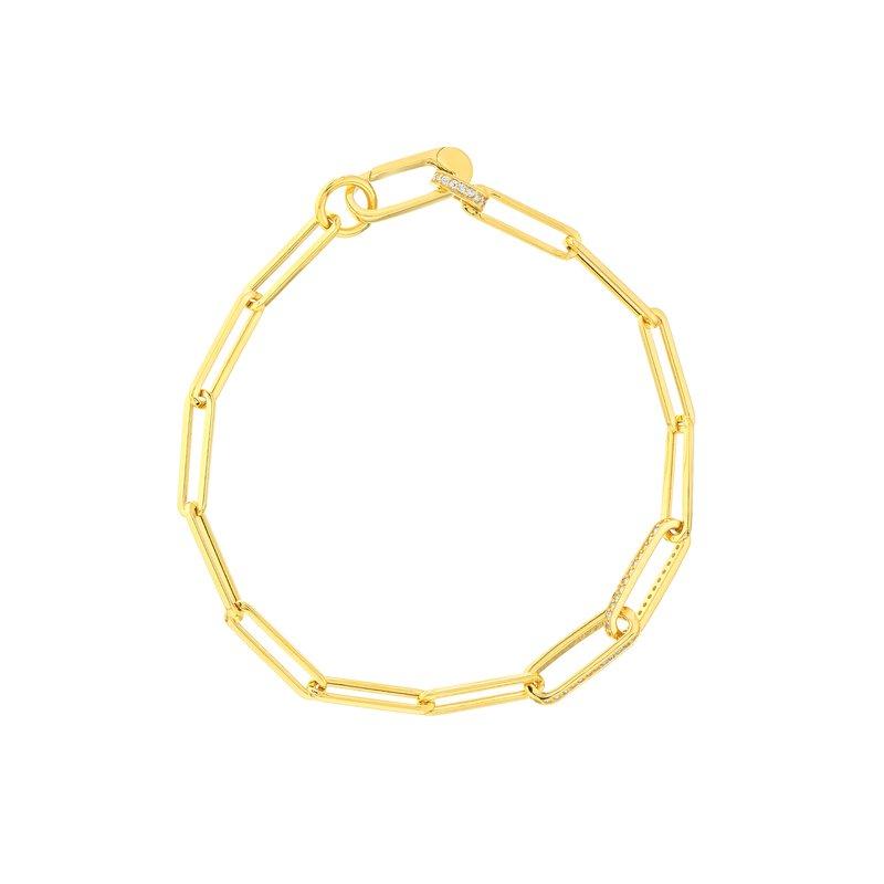 Paper Clip Bracelet in 14K Yellow Gold