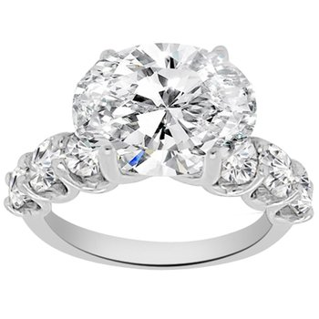 1 1/3ct tw NewBorn Lab Created Diamond Engagement Ring Setting in Platinum