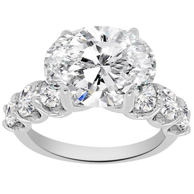 1 1/3ct tw NewBorn Lab Created Diamond Engagement Ring Setting in Platinum
