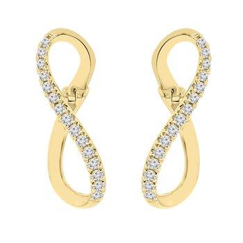 1/5ct tw Diamond Earrings in 14K Yellow Gold