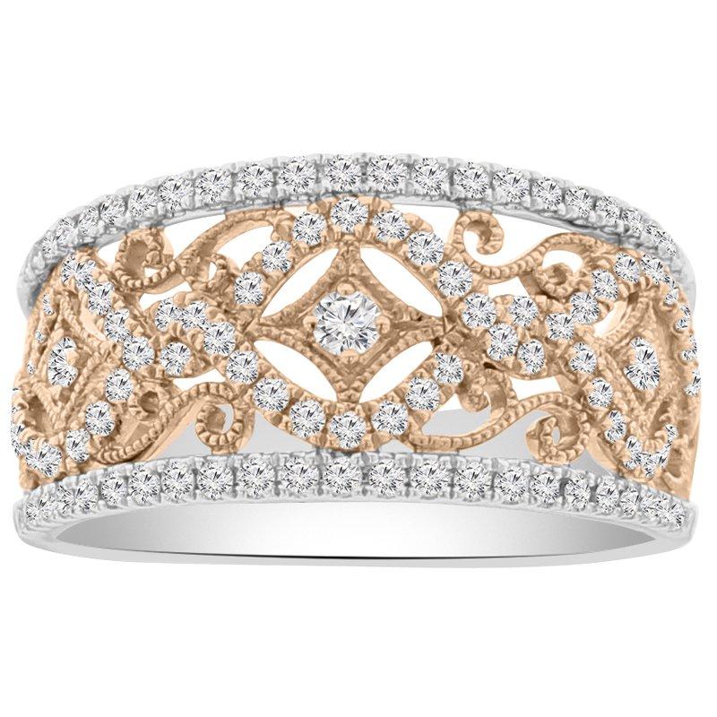 5/8ct tw Diamond Fashion Ring in 18K White & Rose Gold