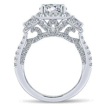 2 7/8ct tw Diamond Halo Engagement Ring in 18K White Gold
