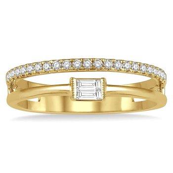 1/5ct tw Diamond Fashion Ring in 14K Yellow Gold