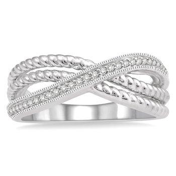 1/10ct tw Diamond Fashion Ring in 10K White Gold