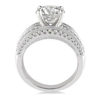 1 1/2ct tw Diamond Engagement Ring Setting in 14K White Gold