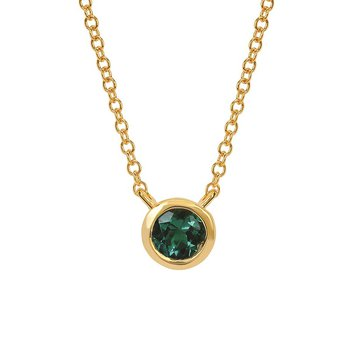 May Birthstone Necklace in 10K Yellow Gold