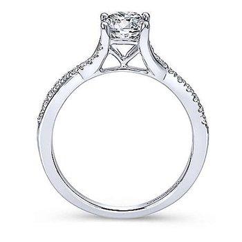 1/8ct tw Diamond Engagement Ring Setting in 14K White Gold