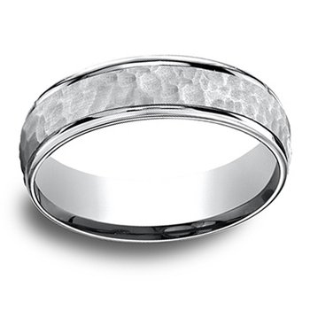 6.5mm Wedding Ring in 14K White Gold