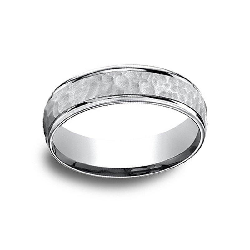 6.5mm Wedding Ring in 14K White Gold