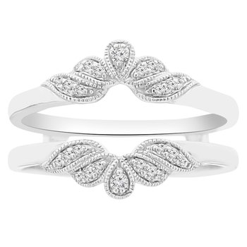 1/8ct tw Diamond Wedding Ring Guard in 18K White Gold