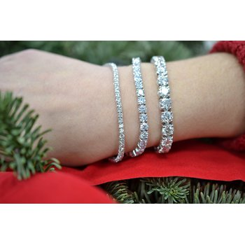 27 1/8ct tw NewBorn Lab Created Diamond Tennis Bracelet in 14K White Gold