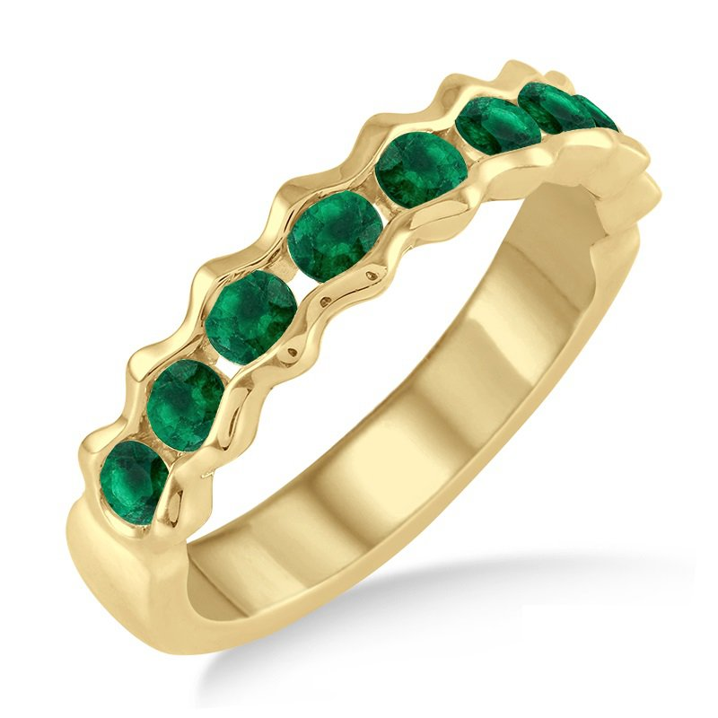 Emerald Fashion Ring in 14K Yellow Gold