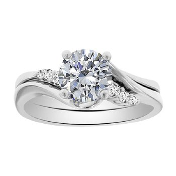Solitaire Engagment Ring Setting in 14K White Gold