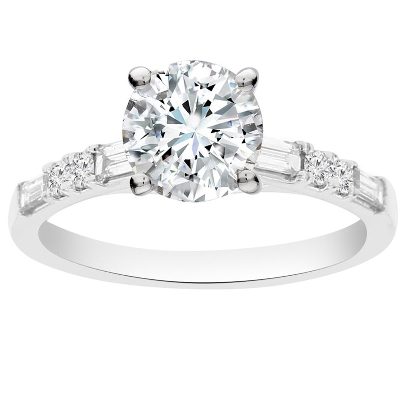 1/3ct tw Diamomd Engagement Ring Setting in 14K White Gold