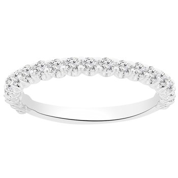 1/2ct tw NewBorn Lab Created Diamond Wedding Ring in 14K White Gold