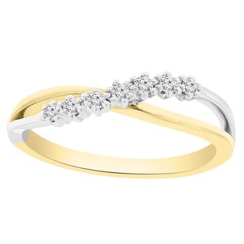 1/10ct tw Diamond Fashion Ring in 10K White & Yellow Gold