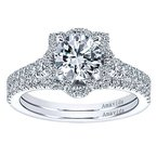 1 3/4ct tw Diamond Halo Engagement Ring in 18K White Gold