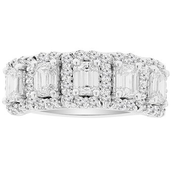 1 5/8ct tw NewBorn Lab Created Diamond Fashion Ring in 14K White Gold