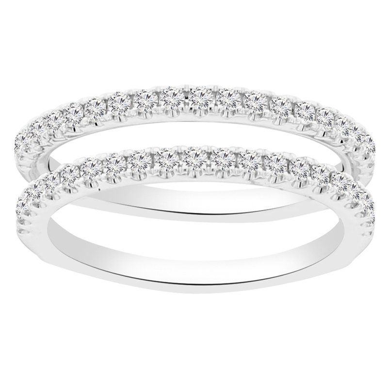 1/2ct tw Diamond Wedding Ring Guard in 14K White Gold