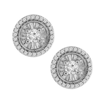 3/8ct tw Diamond Simply Love Collection Stud Earrings in Sterling Silver