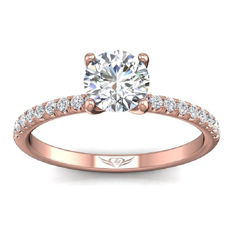 1/4ct tw Diamond Engagement Ring Setting in 14K Rose Gold