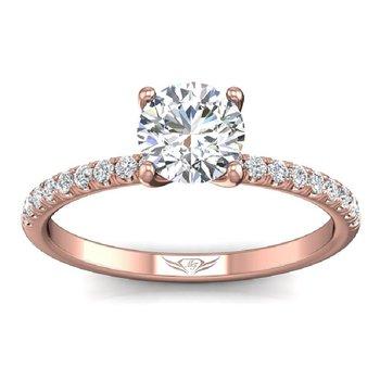 1/4ct tw Diamond Engagement Ring Setting in 14K Rose Gold