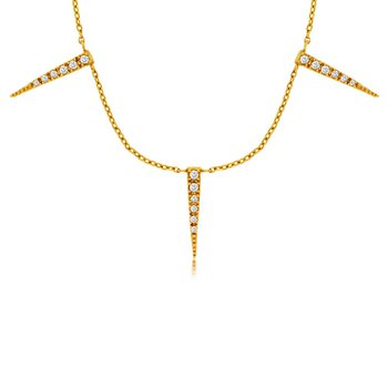 1/8ct tw Diamond Fashion Necklace in 14K Yellow Gold