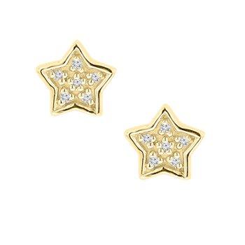 .03ct tw Diamond Fashion Stud Earrings in 10K Yellow Gold