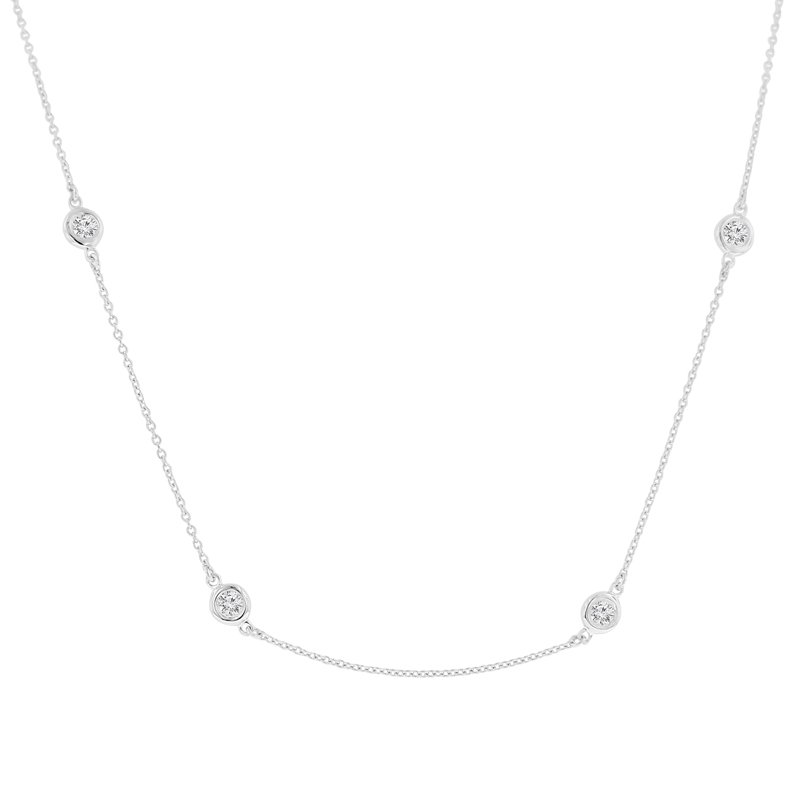 1 1/3ct tw NewBorn Lab Created Diamonds by the Yard Necklace in Sterling Silver