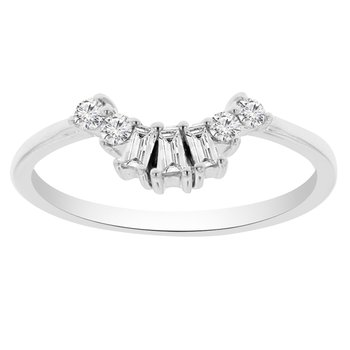 1/4ct tw Diamond Stackable Wedding Ring Wrap in 14K White Gold