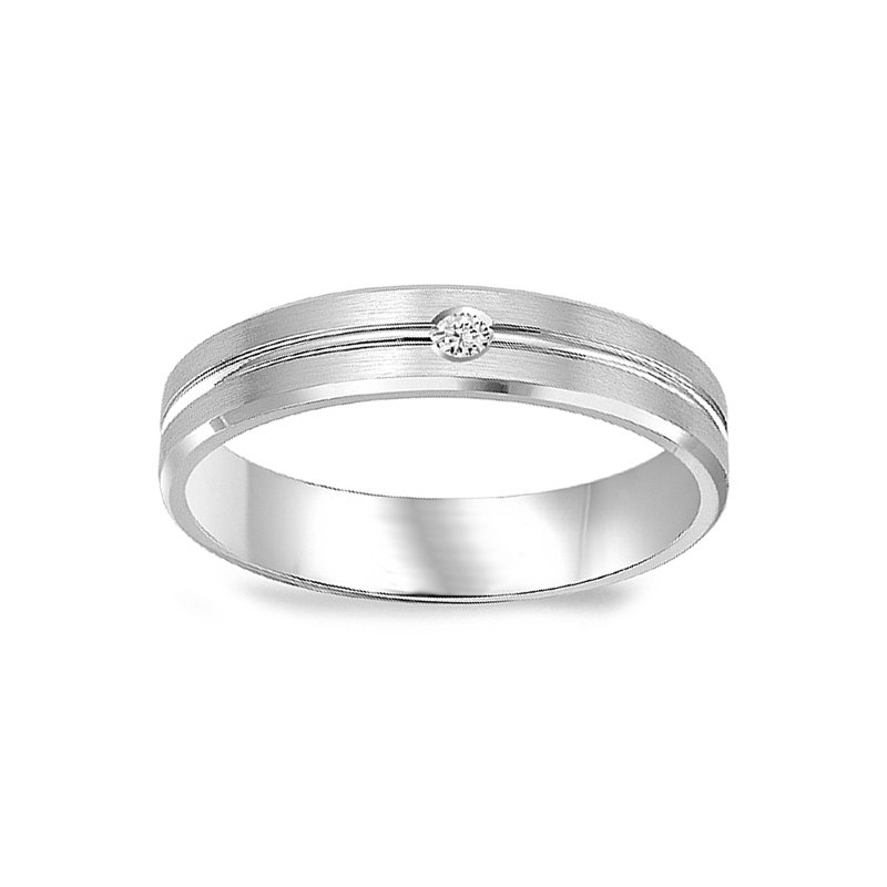 .05ct tw Diamond Wedding Ring in 14K White Gold